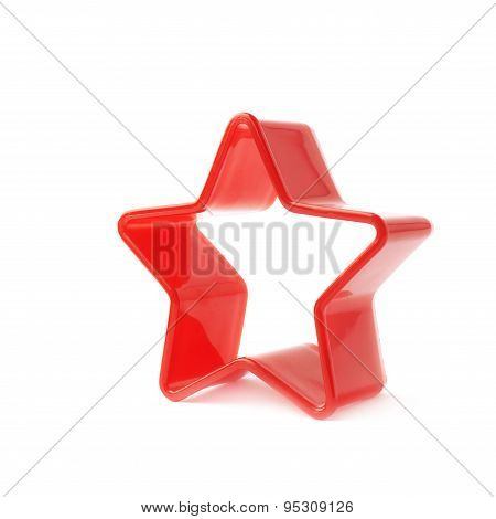 Red star shaped baking mold form