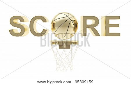 Word Score basketball themed composition