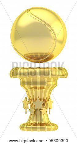 Award tennis sport trophy cup