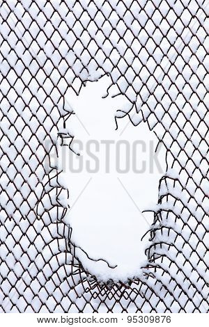 Metallic Fence With Hole
