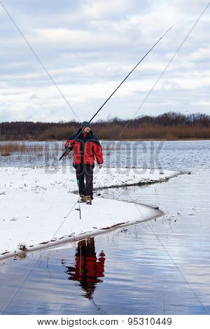 Fisherman With Fishing Rod