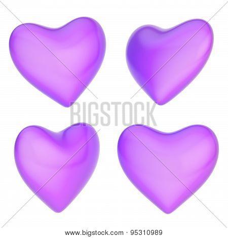 Glossy heart shape isolated