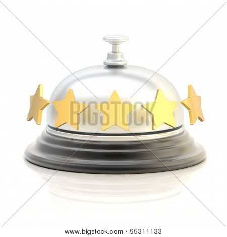 Five star hotel's reception bell