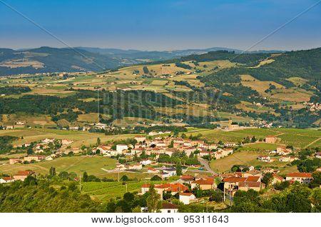 Village Of Saint Laurent D'oingt, Beaujolais, France