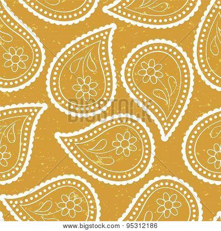 Seamless Paisley Wallpaper Asian Style