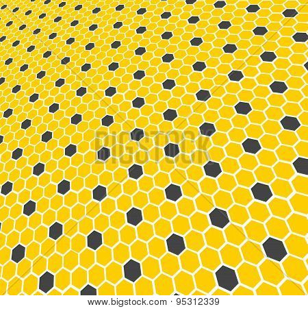Honeycomb - texture. Pattern of honeycomb.
