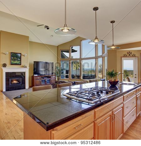 Gorgeous Kitchen In Perfect Traditional Home.