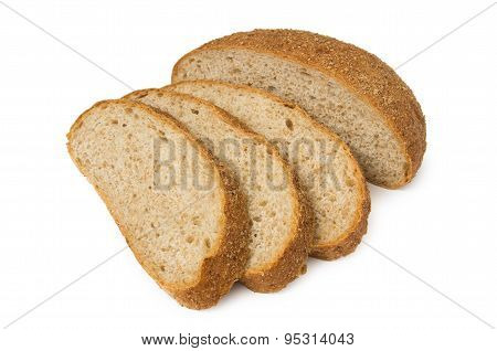 Sliced Wheat Bread With Bran