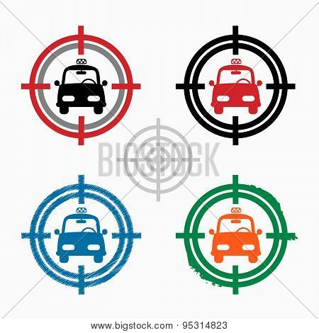 Taxi Icon On Target Icons Background