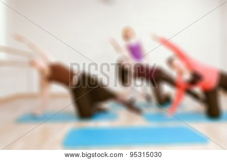 Womens fitness blur background