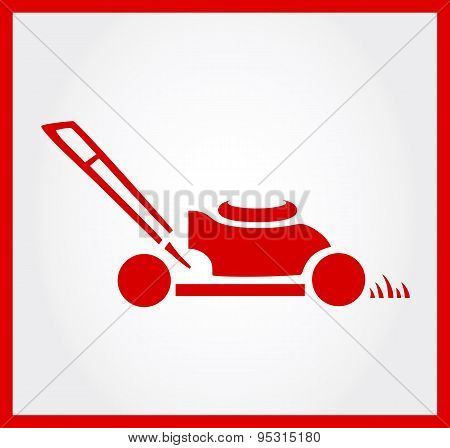 lawn mower symbol vector