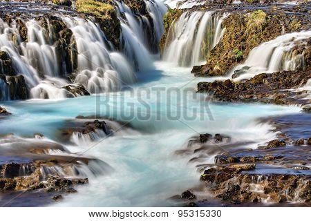 Detail of the Bruarfoss waterfall