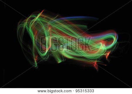 lights fiber optic black background