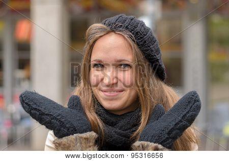 Attractive Woman In Winter Fashion