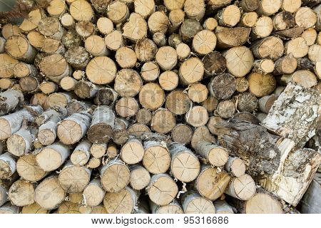 Stack Of Wood, Wooden Texture
