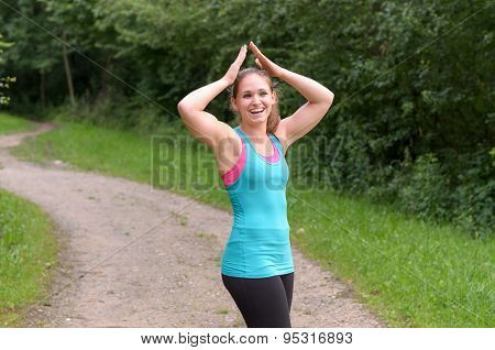 Sporty Young Woman Enjoying Her Outdoor Exercise