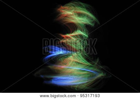 lights fiber optic black background