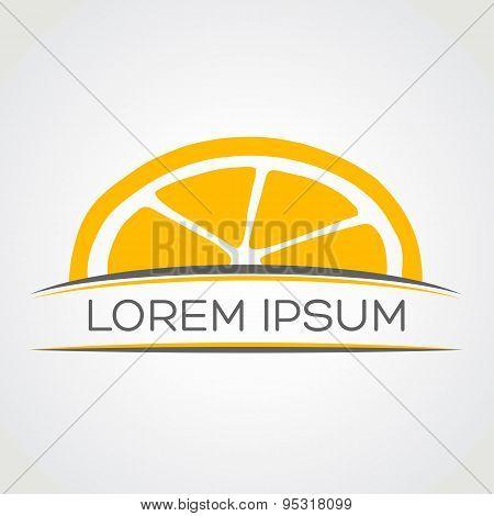 Lemon symbol vector