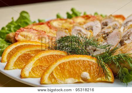 Deep fried shrimp rolled on white dish