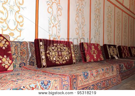 Tatar Sofas In The Khan's Palace Bakhchisaray