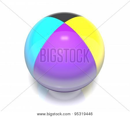 Ball, Colored Cmyk.