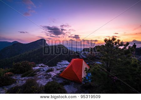 Tent Camping In The Linville Gorge Wilderness Area