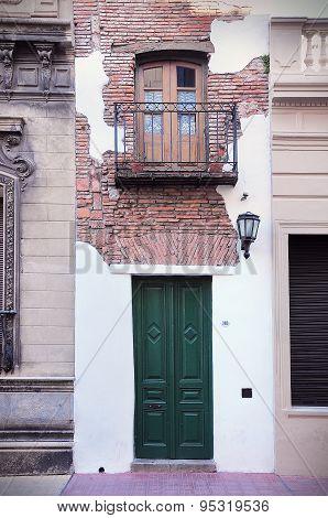 Facade Of The Narrow House.