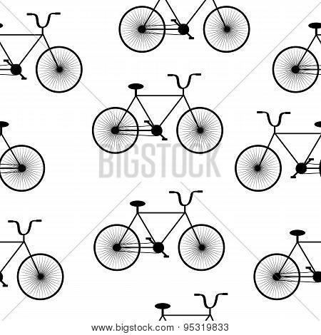 Bike Symbol Seamless Pattern,