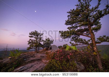 Tent Camping In The Linville Gorge Wilderness Area 2