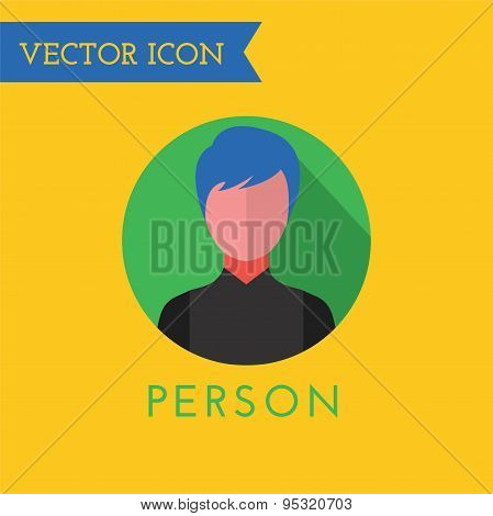 Men Icon Vector Icon. Sound, tools or Dj and note symbols. Stock design element.