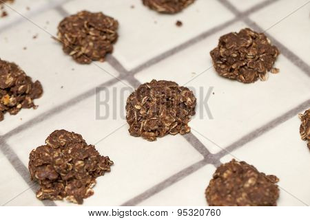Cluster of Baked No Bake Cookies