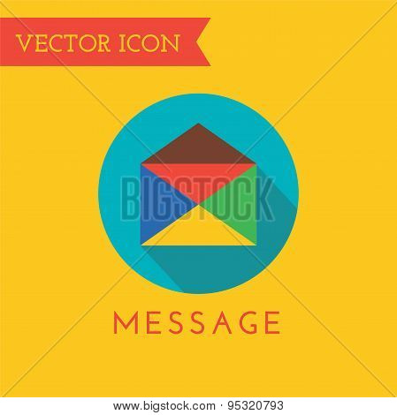 E-mail Icon Vector Logo. Shop, Money or Commerce and Technology symbol. Stocks Design Element.