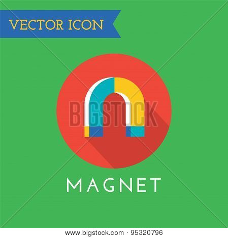 Magnet Icons Vector Set. Shop, money or commerce and mobile symbols. Stocks design element.