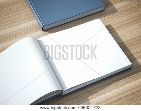 Two books on the table