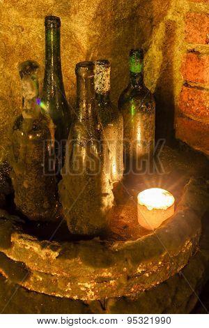 still life in wine cellar, Czech Republic