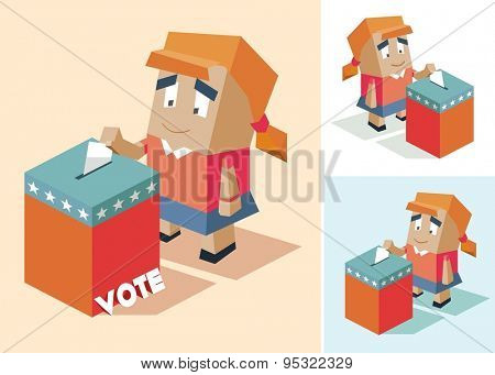 Presidential election day. vector illustration