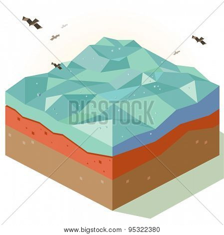 Open Sea exploration. vector illustration