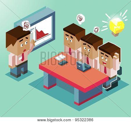 smart new idea. vector illustration