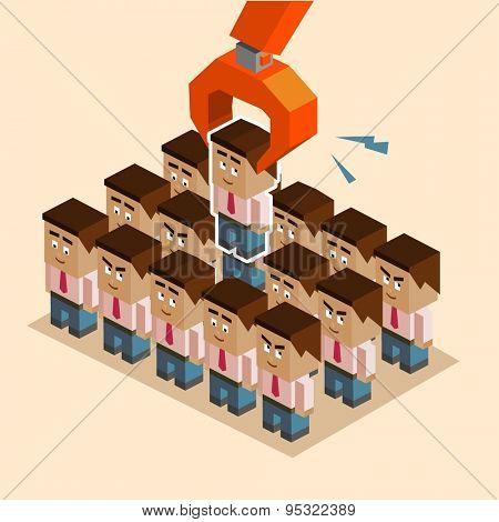human resources recruitment. vector illustration