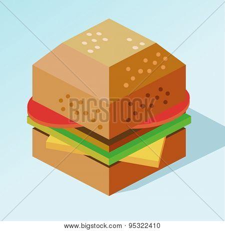 delicious burger mokeup. vector illustration