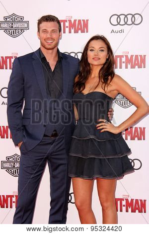vLOS ANGELES - JUN 29:  Derek Theler, Christina Ochoa at the