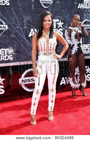 vLOS ANGELES - JUN 28:  Christina Milian at the 2015 BET Awards - Arrivals at the Microsoft Theater on June 28, 2015 in Los Angeles, CA