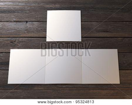 White blank leaflet