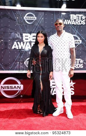 LOS ANGELES - JUN 28:  Nicki Minaj, Meek Mill at the 2015 BET Awards - Arrivals at the Microsoft Theater on June 28, 2015 in Los Angeles, CA