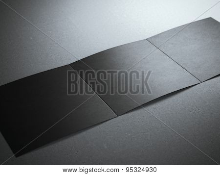 Black blank leaflet