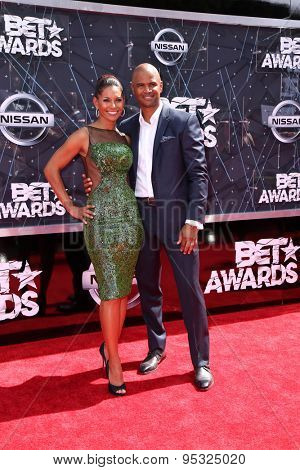 vLOS ANGELES - JUN 28:  Salli Richardson-Whitfield, Dondre T Whitfield at the 2015 BET Awards - Arrivals at the Microsoft Theater on June 28, 2015 in Los Angeles, CA