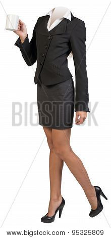 Half-turned businesswoman body