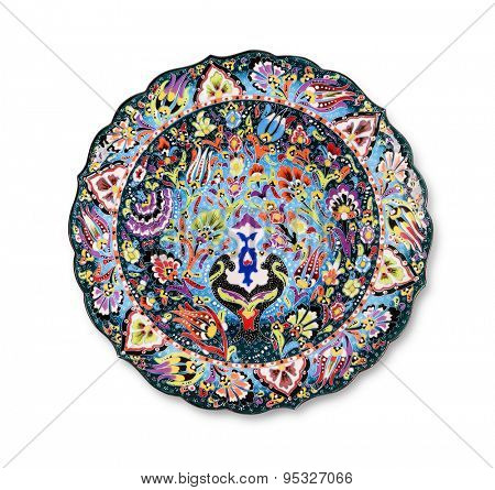 Traditional decorative ceramic plate