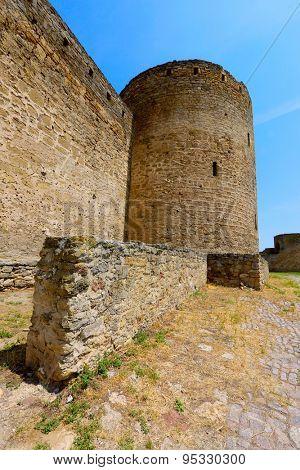 Ruins of old tower in Belgorod-Dnestrovsky castle
