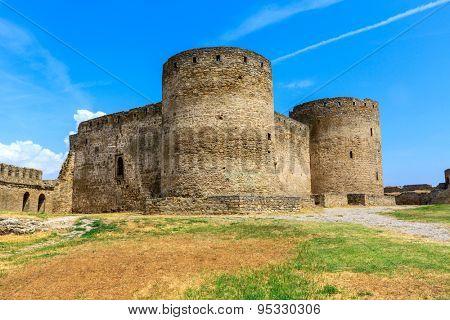 Old towers in castle, Belgorod-Dnestrovsky, Ukraine